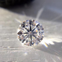 D Color Moissanite 8mm 2ct VVS1 grade Loose moissanite Excellent Round Brilliant Cut Jewelry Making Stone DIY material