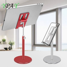 цена на Aluminum Alloy Tablet Phone Holder Adjustable Tablet Desktop stand For iPhone X Mobile Phone Mount For iPad Air Pro 10.5 Stand