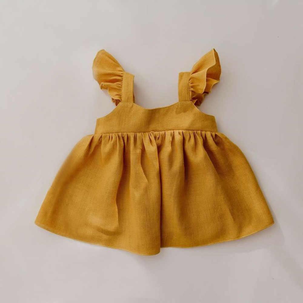 아기 소녀 치마 봄 여름 아기 소녀 민소매 유기 코 튼 그린 핑크 화이트 스커트 0-2Y 에 대 한 신생아 아기 소녀 옷