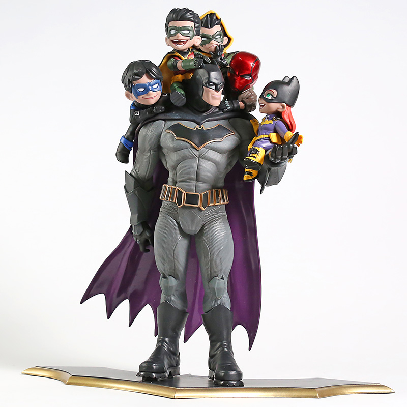 DC Comics Batman Family Nightwing Robin Red Hood Statue PVC Figure Model Toy Figurals title=
