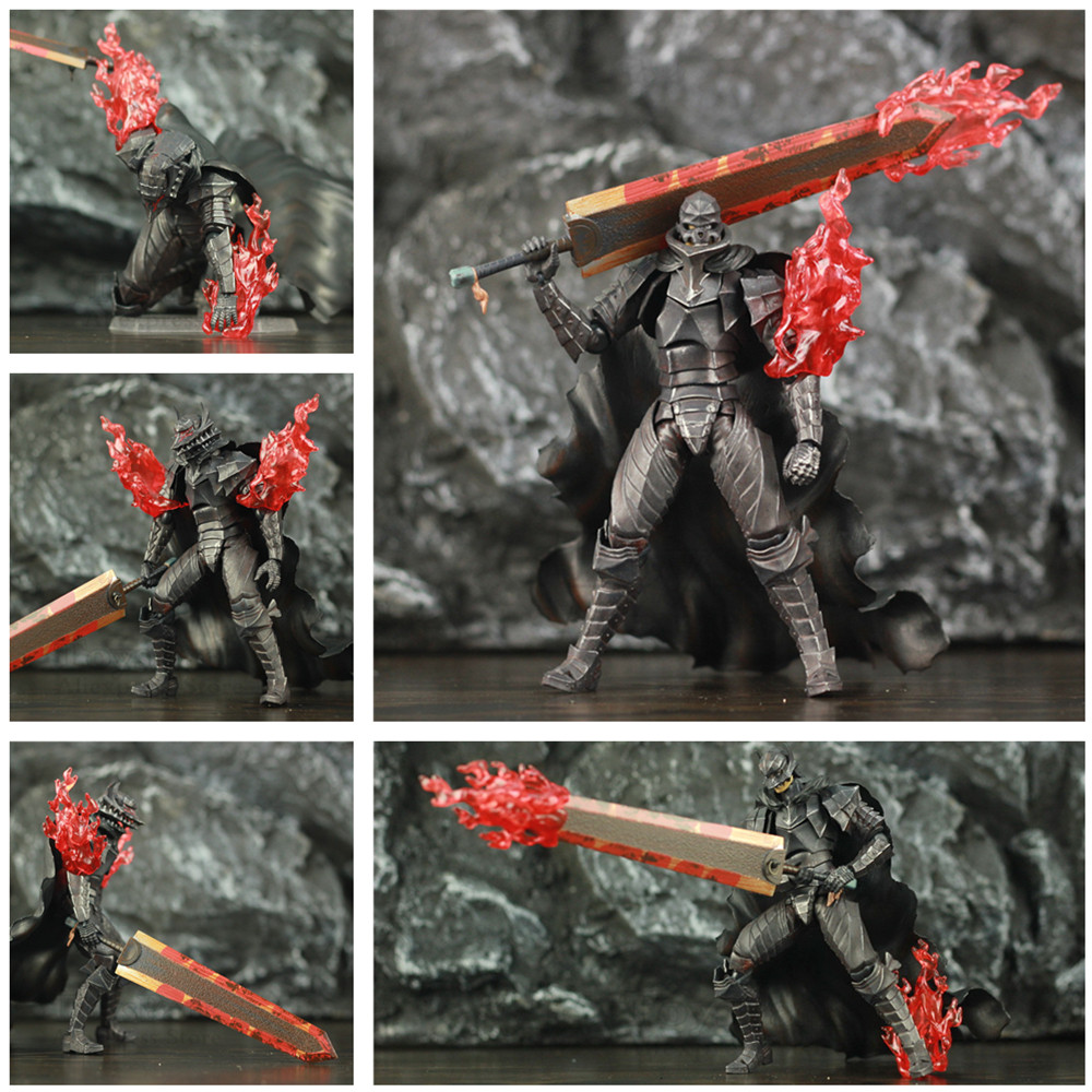 "Black Swordman Berserker Armor Guts 6"" Scale Action Figure Fgm 410 Skull KO's Toys Doll"