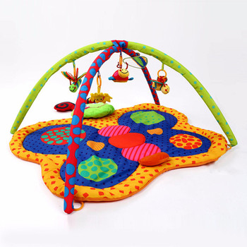 Baby Toys Gift Play Gym Mat Soft Infant Floor Carpet 3D Activity Play Mat Multifunction rattle/BB/Safety mirror crib sets toy
