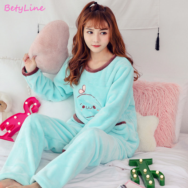 Betyline Women Pajamas Sets For Autumn 2019 New Arrivals Animals Women Sleepwear Women Clothes Long Sleeve Long Pants Homewear