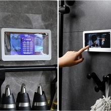 Boîte murale étanche pour téléphone portable, support auto-adhésif, écran tactile, coque de téléphone de salle de bain, boîte de rangement de scellage de douche