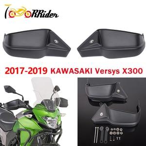 Image 1 - אופנוע חלקי 2Pcs Versys X 300 יד משמר גריפ מעטפת הגנה Handguard ערכת לקוואסאקי Versys X300 Versys 300 X