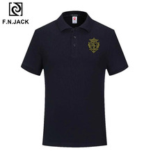 F.N.JACK Polo à manches courtes pour homme, estival Vintage, tendance, pour homme, décontracté