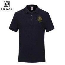 F.N.แจ็คเสื้อโปโลผู้ชายลำลอง Vintage Handmade ยอดนิยมแขนสั้นฤดูร้อน Polo สำหรับ Man