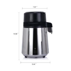 Image 4 - 4L ホーム純水蒸留器機械蒸留水蒸留浄水器フィルターステンレス鋼ガラス瓶カーボンフィルター家族