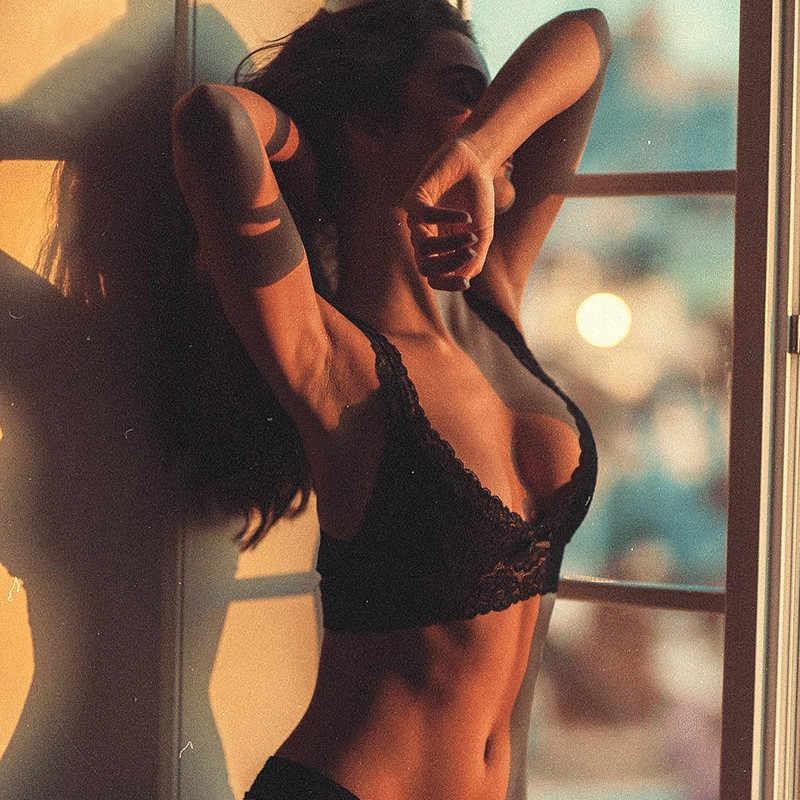 Gợi Cảm Nữ Trắng Quần Lót Ren Femme Liền Mạch Áo Ngực Không Dây Dùng Thân Thiết Áo Bralette Sexy Áo Crop Top Đẩy Lên Áo Lót Ngực Cho Nữ