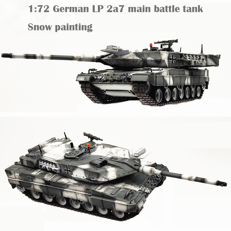 1:72 German Leopard 2a7 Main Battle Tank  Snow Painting  Fine Collection Model