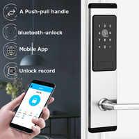 Электронный дверной замок приложение bluetooth Смарт-код карты Ключ сенсорный экран цифровой пароль замок для дома