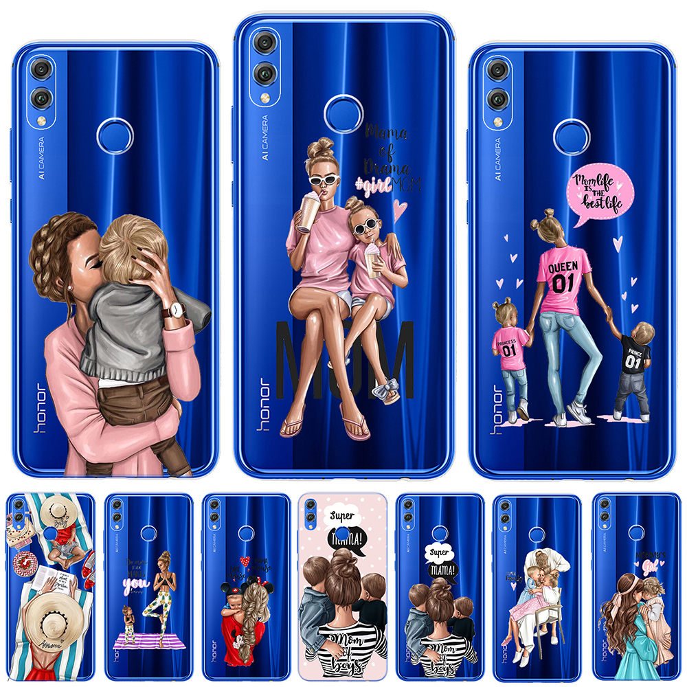 Brown Hair Baby Mom Girl Queen 01 Soft TPU <font><b>Case</b></font> For Coque Huawei Mate 20 <font><b>Lite</b></font> <font><b>Honor</b></font> 9 <font><b>10</b></font> 20 <font><b>Lite</b></font> Pro 10i 8X 8C Silicon Cover image