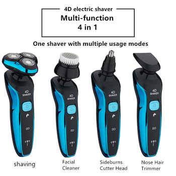 New Electric Shaver Wet And Dry Full Body Waterproof Electric Beard Trimmer Rechargeable Razor Multifunction Shaver For Men 4 in 1 electric shaver for men wet