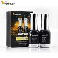 2 unids/set Venalisa nuevo gel de uñas basecoat + no limpiar topcoat set completo arte de uñas manicura kit de uñas gel