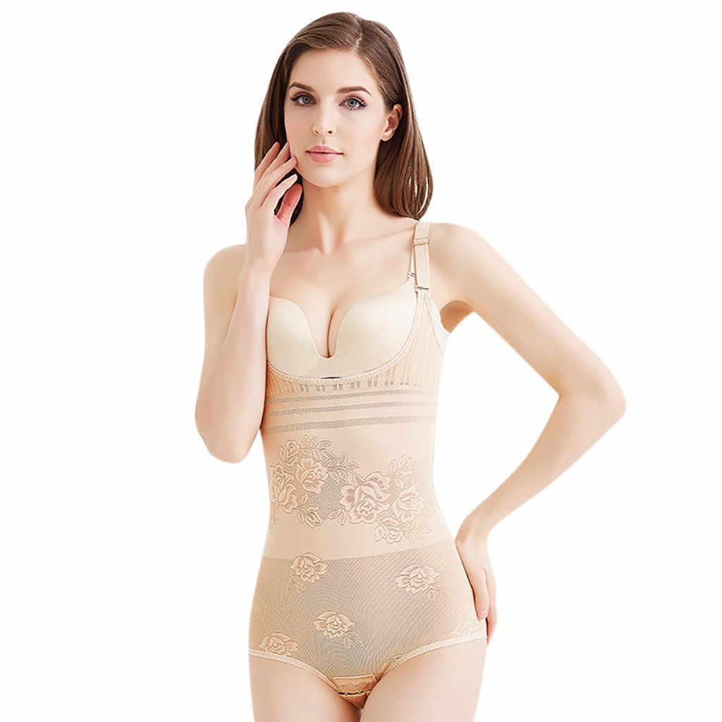 새로운 고품질 솔리드 여성 배꼽 슬리밍 컨트롤 Underbust 셰이퍼 Shapewear 바디 슈트 속옷 부드러운 편안한 여성 의류