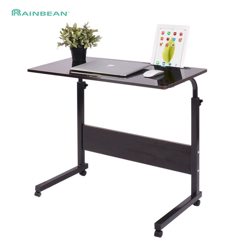 Laptop Stand Adjustable Multi Functional Ergonomic Mobile Computer Desk Can Be Lifted Standing Beside Bed Table For Office Study
