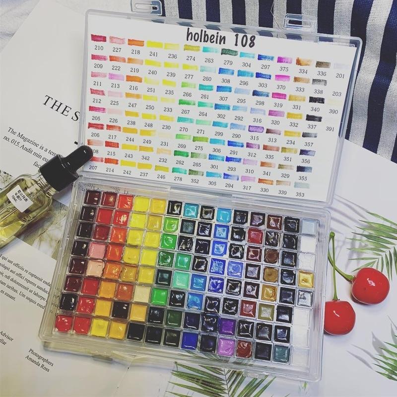 0.5ML Solid Watercolor Paint Mini Set Original 48 Colors 108 Colors Watercolor Pigment Sub-package Art Supplies