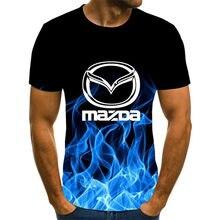 2020 3D Flame Hip Hop koszulka z krótkim rękawem Design wysokiej jakości męska koszulka