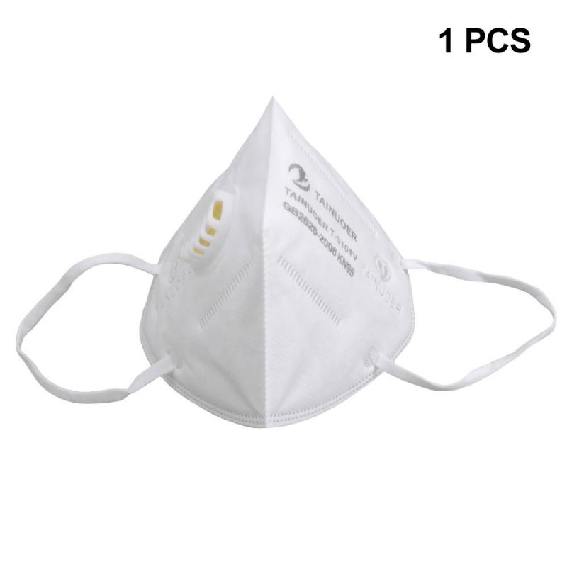 KN95 Mask W/Exhalation Valve Reusable KN95 Mask - Valved Face Mask With A Concealed Plastic Nose Anti Fog High Elastic Mask