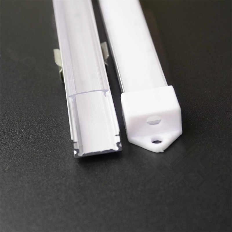 Profilé d'aluminium LED mince de taille de la forme 7mm de 20 pouces 50cm U, canal mou de bande de 12mm 5V 12V 24 V, boîtier de bande d'armoire