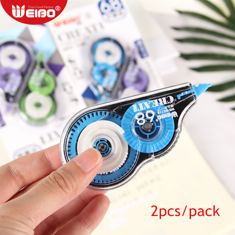 2pcs/pack 16m Correction Tapes Stationery For School Supplies 5mm Width Kawaii Correction Tape