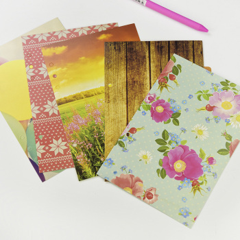 1set/lot A5 A6 Color Cute Notebooks Series Separation Page 6 Hole Loose-leaf Pocket Index Page 6 Separation Sheet 5 Sheets baby page 6