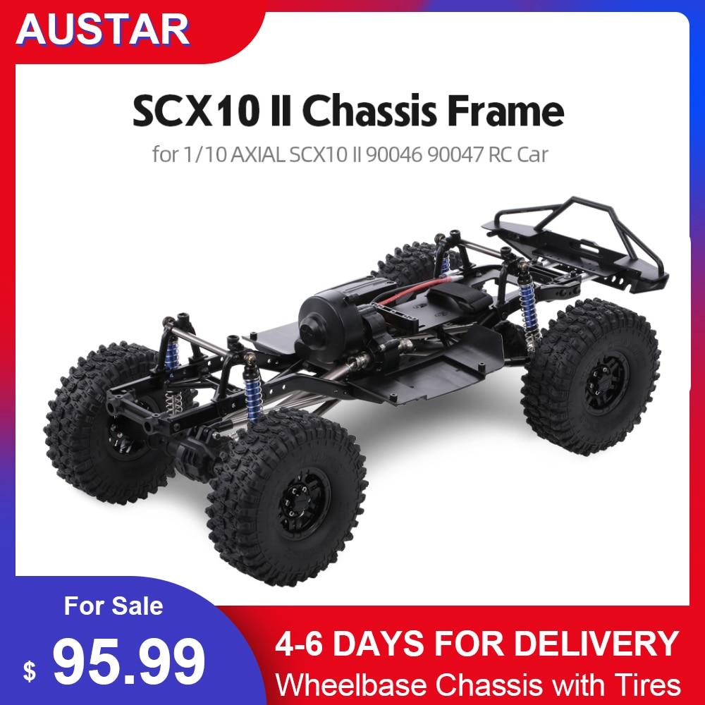 Original AUSTAR 313mm Wheelbase Chassis Frame for 1/10 AXIAL SCX10 II 90046 90047 RC Crawler Climbing Car DIY Hoting RC Car Part