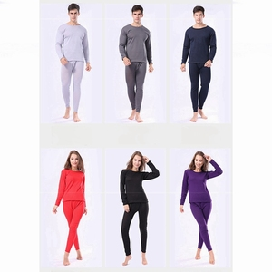 Image 5 - Winter Velvet Thick Thermal Underwear For Men WomanWinter Warm Layered Clothing Pajamas Set Thermal Set Male Long Johns Hot Dry