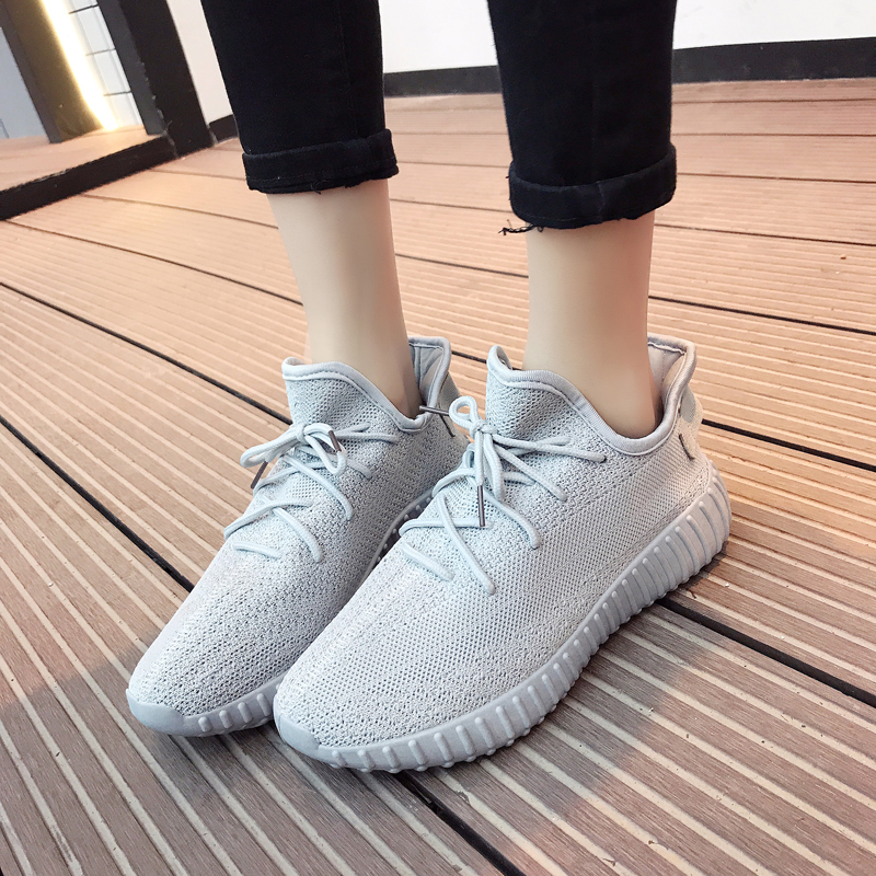 Dropshipping Unisex Sneakers Casual Shoes Lace-Up Lightweight Comfortable Sneakers Breathable  Solid 350 Men Women Sneakers