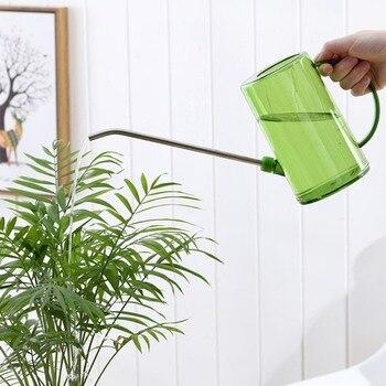 プラスチックじょうろステンレス鋼ロングスパウト半透明外観でマークスケール屋内/屋外植物の花