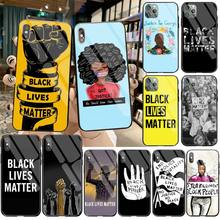 CUTEWANAN Black Lives Matter BLM Soft Rubber Phone Cover Tempered Glass For iPhone 11 Pro XR XS MAX 8 X 7 6S 6 Plus SE 2020 case
