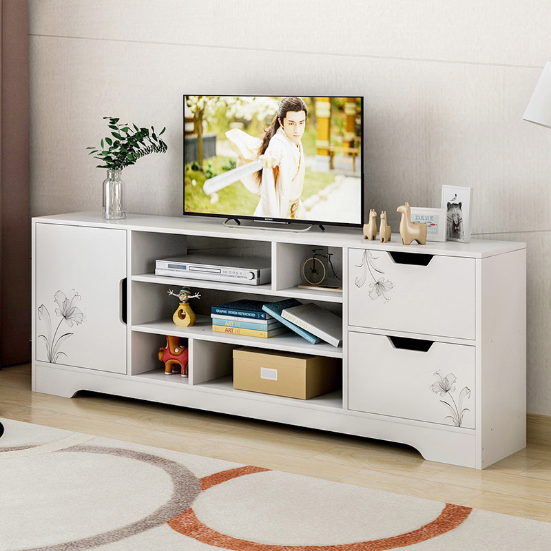 TV Cabinet Modern Simple Small Family Mini Floor Cabinet Living Room Simple TV Cabinet Storage Background Cabinet