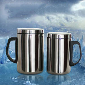 500/350ml Stainless Steel Double Wall Mug Cup Portable Travel Coffee Tea Cups
