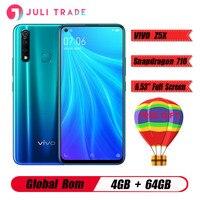 Original Vivo Z5X 4G LTE Mobile Phone 6.53 Screen Snapdragon 710 Octa Core 4G 64G Android 9 5000mAh Big Battery Smartphone