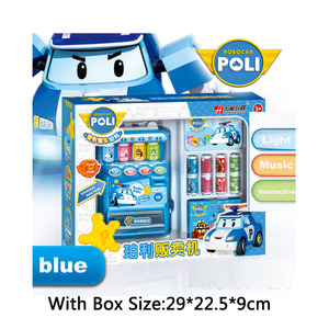 Image 3 - Robocar Poli  Child Toy Drinks Automatic Vending Machine Goods  Pretend Play House Toys Children Girls Furniture for dollhouse