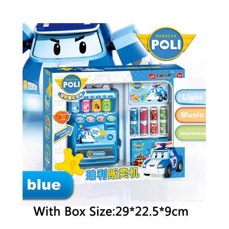 Robocar Poli Детская игрушка Напитки Автомат Торговый автомат Товары Притворись Play House Toys Дети Девочки Мебель для кукольного домика