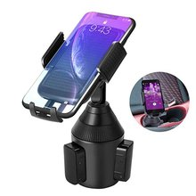 Dropshipping Car Gooseneck Cup Holder Mount Mobile Phone Stand Bracket For Cellphone 090+080A Car Cup Holder Mount Shelf Bracket car swivel suction cup mount holder for apple htc samsung cellphone