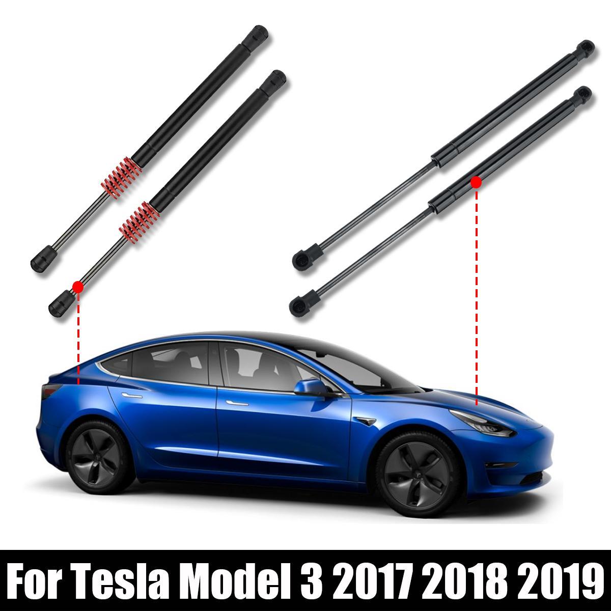 NEUE 2X Vorne/Hinten Stamm Schwanz Tor Heckklappe Boot Gas Spring Shock Lift Streben Unterstützung Für Tesla Modell 3 2017 2018 2019