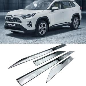 Image 1 - ABS Chrome Plastic Side Molding Cover Trim Door Body Kits for Toyota RAV4 RAV 4 2019 2020 accessories 4pcs/set