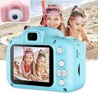 Настоящая мини-камера игрушки для детей Мультяшные 2 дюйма HD экран Цифровые камеры видео рекордер видеокамера переключение языка тайминг с...