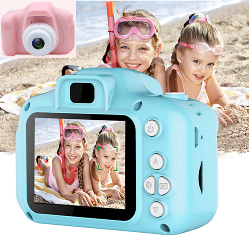 Real Mini Camera Kids Toys Cartoon 2 Inch HD Screen Digital Cameras Video Recorder Camcorder Language Switching Timed Shooting image