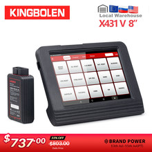 STARTEN X431 V 8 Zoll Android PAD Diagnose-Tool 2 jahre kostenloser Update DBScar Adapter X-431 pro pro3 OBD2 Auto scanner(China)