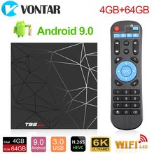 2020 smart tv caixa android 9 4gb 32gb 64gb t95 máximo tvbox allwinner h6 quad core 6k hdr 2.4ghz wifi t95max android tv conjunto caixa superior