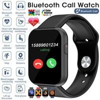 Reloj inteligente deportivo para hombre y mujer, pulsera con pantalla táctil, resistente al agua, Bluetooth, llamadas, teléfono, para IPhone, IOS, Android, Samsung, 2021