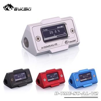 "Bykski OLED Digital Display Water Temperature Meter Water Cooler System Double G1/4"" Thermometer Temperature Sensor Fitting"
