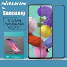 Nillkin זכוכית מסך מגן עבור סמסונג גלקסי A30 A30s A50 A50s A51 A70 A71 מזג זכוכית 2.5D מלא כיסוי בטיחות זכוכית