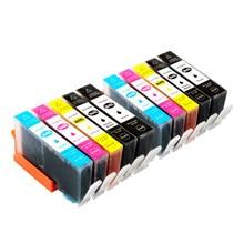 1-10 Pcs Cartucho de Tinta Compatível Para HP364 364 XL Para HP 6510 7510 B8550 C5324 C5380 C6324 C6380 D5460 B010a Impressora