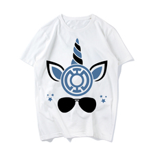 Summer Woman Casual Short Sleeved Unicorn Superhero Printing Short-sleeved Cotton T-shirt Tops Tees O-Neck T shirt For Girls
