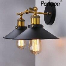 Lampara الجدار مصباح باريد أضواء الجدار E27 85 265 فولت بمصباح وحدة إضاءة LED جداريّة خمر أضواء بار مصابيح مرآة ضوء لوفت ديكور المنزل