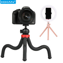 Phone Camera Tripod Stands With LED Fill Light Octopus Tripods Holder Handheld Selfie Sticks Tripode Para Movil Bracket Monopod tripod weifeng wf 3958m camera tripods monopod slr camera portable travel tripods support foot tripods